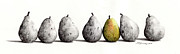 Cowboy Sketches Prints - 7-Pears Print by Jack Schilder