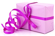Ribbon Posters - Pink gift Poster by Blink Images