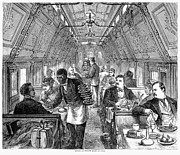 Waiter Framed Prints - Pullman Car, 1877 Framed Print by Granger