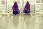 Lace Shoes Prints - Pumps Print by Joana Kruse