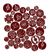 Seeds Posters - Red Abstract Poster by Frank Tschakert