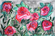 By Any Other Name Painting Posters - 7 Roses Poster by Paul Chenoweth