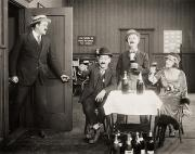 Champagne Metal Prints - Silent Film Still: Drinking Metal Print by Granger