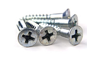Carpentry Prints - Silver screws Print by Blink Images