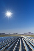 Power Plants Posters - Solar Power Plant, Nevada, Usa Poster by David Nunuk