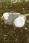 Glove Photo Framed Prints - Suitcase Framed Print by Joana Kruse