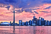 Skyline Framed Prints - Toronto skyline Framed Print by Elena Elisseeva