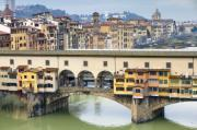 Michelangelo Framed Prints - Vecchio Bridge Framed Print by Andre Goncalves