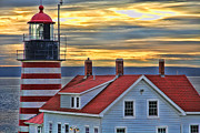 Red Roof Prints - West Quoddy Head Lighthouse Print by Jack Schultz