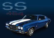 1970 Chevelle Ss 454 Posters - 70 Ss 454 Poster by Bill Dutting