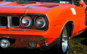 Big Block Prints - 71 Plymouth Cuda Print by Thomas Schoeller