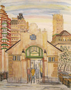 72nd Street Subway Station Print by Enrico Miguel Thomas