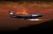 Flight Digital Art - 747-400 02 approach PHOG by Mike Ray