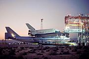 747 With Space Shuttle Enterprise Before Alt-4 Print by Brian Lockett