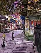 New Orleans Drawings - 76  French Quarter Gallery by Streetlamp by John Boles