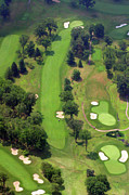 Plymouth Meeting Aerials Prints - 7th Hole Sunnybrook Golf Club 398 Stenton Avenue Plymouth Meeting PA 19462 1243 Print by Duncan Pearson