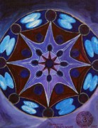 Chakra Paintings - 7th Mandala - Crown Chakra by Jennifer Christenson