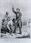 Abolition Photo Posters - Abraham Lincoln, 16th American President Poster by Photo Researchers