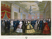 Mary Todd Lincoln Prints - Abraham Lincoln (1809-1865) Print by Granger