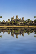 Buddhism Photo Posters - Angkor wat Poster by MotHaiBaPhoto Prints