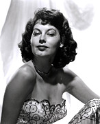 Strapless Dress Prints - Ava Gardner Print by Everett