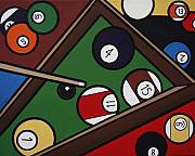 Billards Framed Prints - 8 Ball  Framed Print by Julaine DeJong