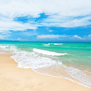Caribbean Sea Photo Prints - Beach Print by MotHaiBaPhoto Prints