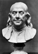 Statue Portrait Metal Prints - Benjamin Franklin (1706-1790) Metal Print by Granger