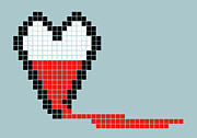 Threats Digital Art - 8-bit Style Bleeding Heart by Malte Mueller