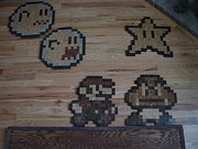 Game Reliefs - 8 Bit Wood Nintendo by Richard Meggison