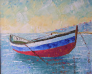 South Of France Painting Originals - Boat of Provence  by Frederic Payet