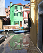 Facades Photo Posters - Burano.VENICE Poster by Bernard Jaubert