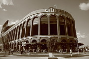 Baseball Posters Framed Prints - Citi Field - New York Mets Framed Print by Frank Romeo