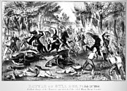 Bull Creek Prints - Civil War: Bull Run, 1861 Print by Granger
