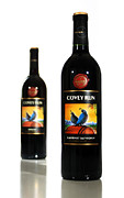 Red Wine Bottle Prints - Covey Run Wines Print by Marius Sipa