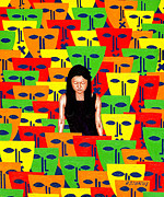 Lonely Paintings - Crowd by Patrick J Murphy