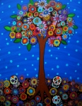 Turkus Framed Prints - Day Of The Dead Framed Print by Pristine Cartera Turkus
