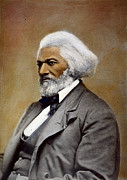African-american Photo Framed Prints - Frederick Douglass Framed Print by Granger
