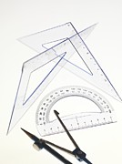 Technical Photo Posters - Geometry Set Poster by Tek Image