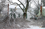 Winter Storm Art - Ice Storm by Ted Kinsman