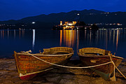 Rowing Metal Prints - Island of San Giulio Metal Print by Joana Kruse