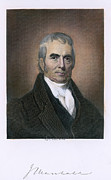 Autograph Art - John Marshall (1755-1835) by Granger