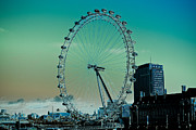 London England  Digital Art - London Eye  by David Pyatt