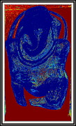 Color Sculpture Prints - Lord Ganesha Print by Anand Swaroop Manchiraju