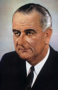 Lyndon Baines Johnson Prints - Lyndon Baines Johnson Print by Granger