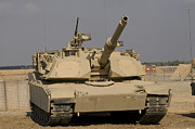 Us Army Tank Posters - M1 Abrams Tank At Camp Warhorse Poster by Terry Moore