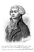 18th Century Drawings - Maximilien Robespierre  by Granger