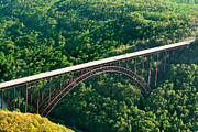 Arial View Photos - New River Gorge Bridge by Mary Almond