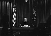 Resignation Prints - Nixon Presidency. Us President Richard Print by Everett