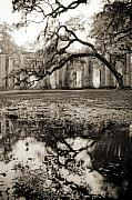 Church Ruins Framed Prints - Old Sheldon Church Ruins Framed Print by Dustin K Ryan